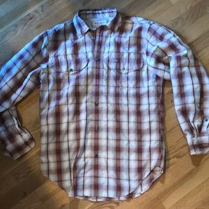 "Filson twin lakes sport shirt XS men 20"" chest"